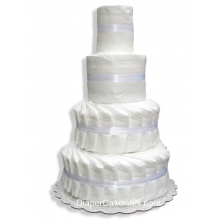 4 tier Do-It-Yourself Diaper Cake