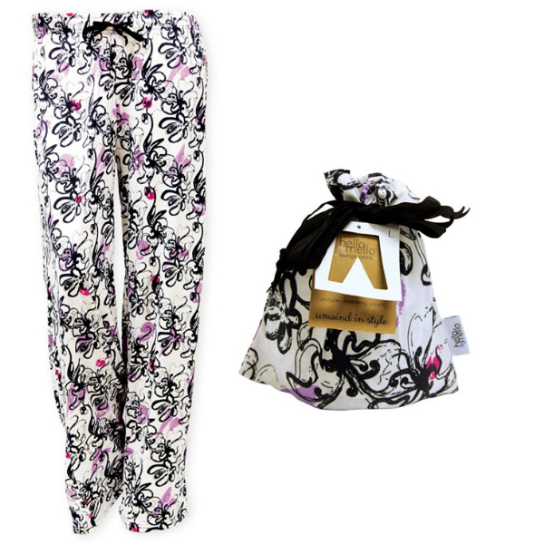 Hello Mello Best Rest Lounge Pants W Matching Giftable Tote Small Medium Size