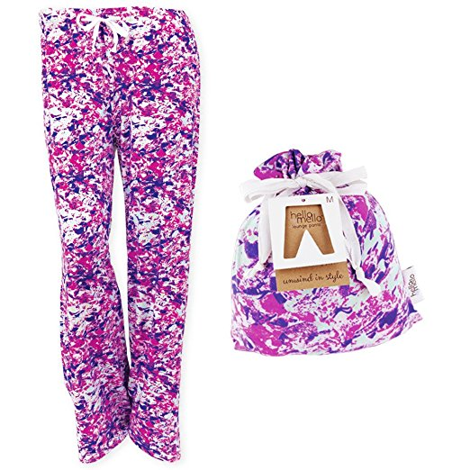Hello Mello Nerve Reserve Lounge Pants W Matching Giftable Tote Small Medium Size