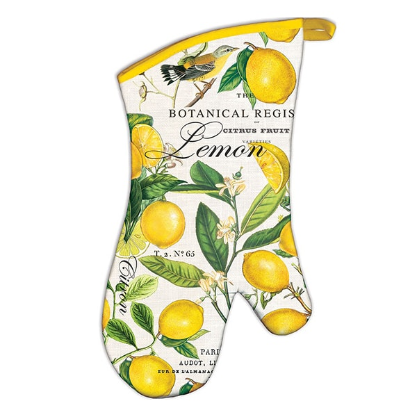 Michel Design Works Lemon Basil Padded Oven Mitt