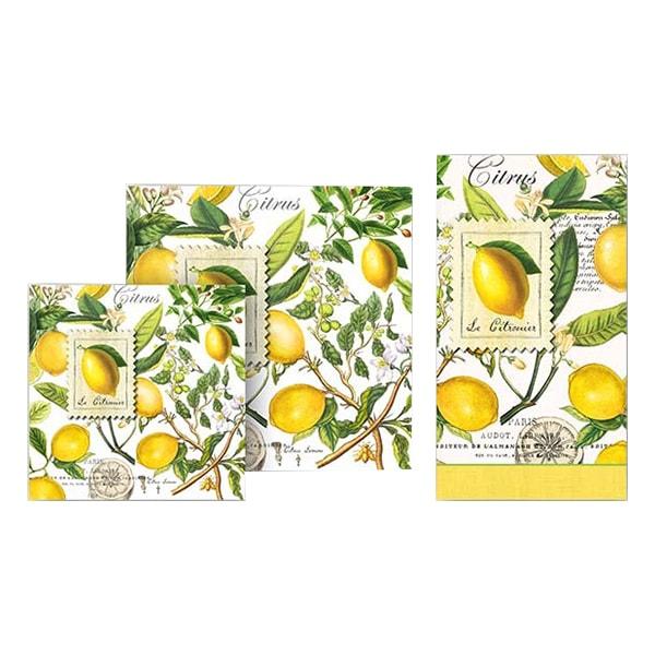 Michel Design Works Lemon Basil Hostess Napkins