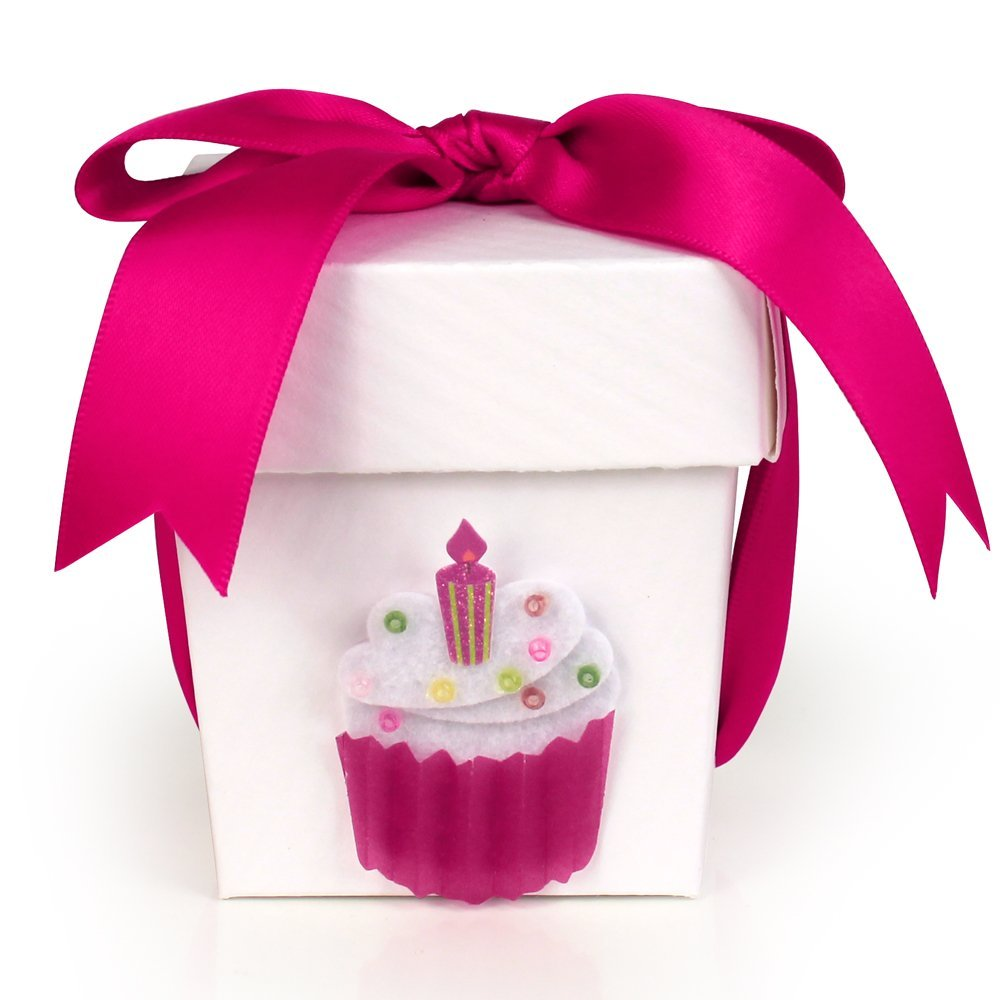 Seda France Happy Birthday Gift Candle Bow Hot Pink 2oz