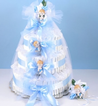 Deluxe Diaper Cake Delight Baby Boy Gift At Best Prices