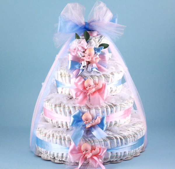 Pink Blue Baby Shower Diaper Cake At Best Prices