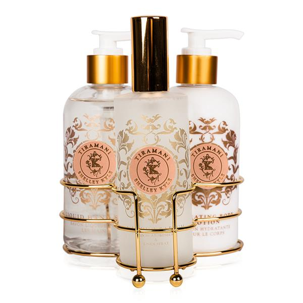 Shelley kyle tiramani 3 piece caddy by lotion soap Hand wash and lotion caddy
