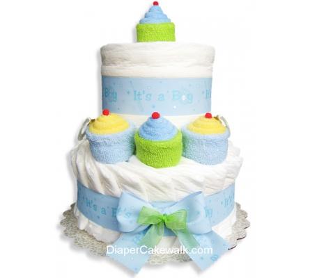 It's A Boy! Mini Diaper Cake