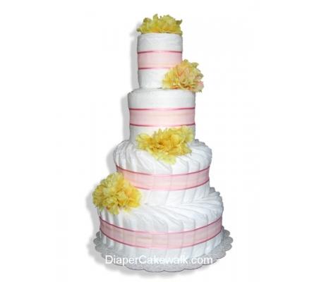 Floral Diaper Cakes - Choose Colors