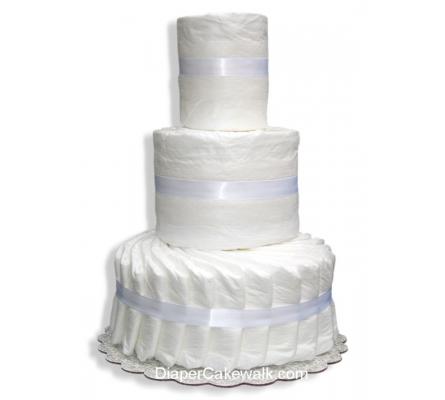 3 tier Do-It-Yourself Diaper Cake