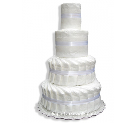4 tier Do-It-Yourself Diaper Cake
