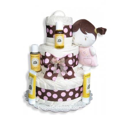 EcoFriendly Baby Doll Diaper Cake