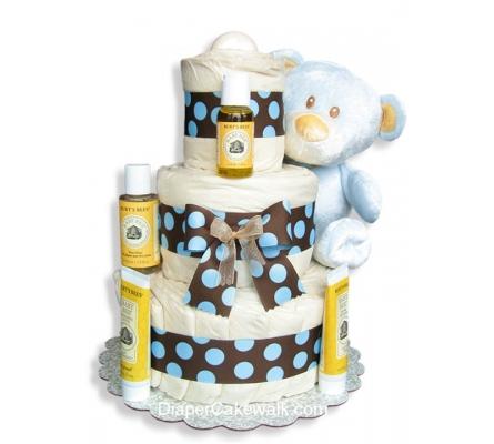 EcoFriendly Bear Diaper Cake