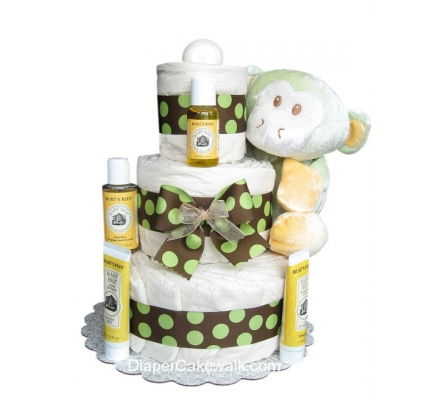 EcoFriendly Green Diaper Cake