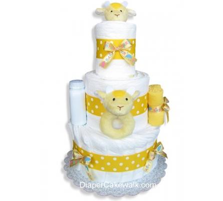 Giraffe Baby Shower Diaper Cake