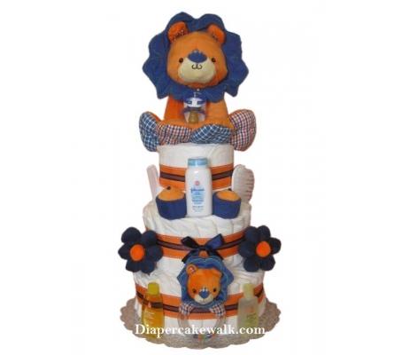 Baby Boy Safari - King Lion Diaper Cake