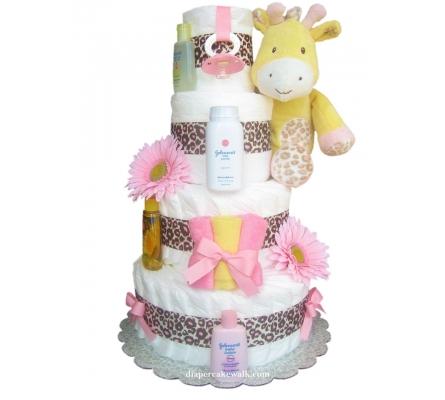 Sweet Safari Baby Diaper Cake