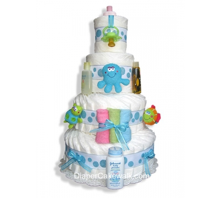 Under The Sea 3 or 4 Tiers Diaper Cake