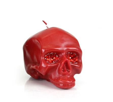 D.L. & Company Med Red Skull Crystal Eyes