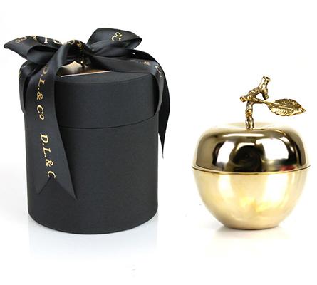 D.L. & Company La Pomme D'Or Candle Medium Gold Apple