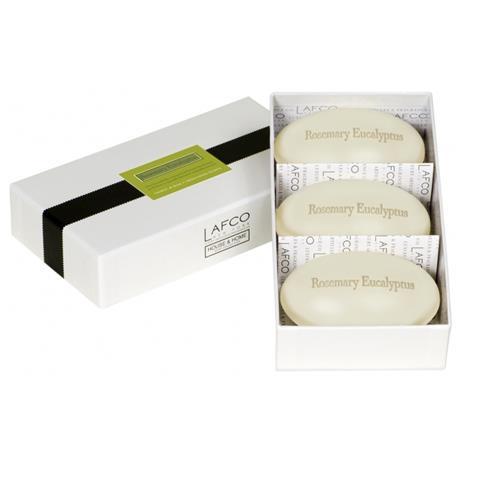 Lafco House & Home Gift Box Hand Soaps Rosemary Eucalyptus 3 x 4.5oz