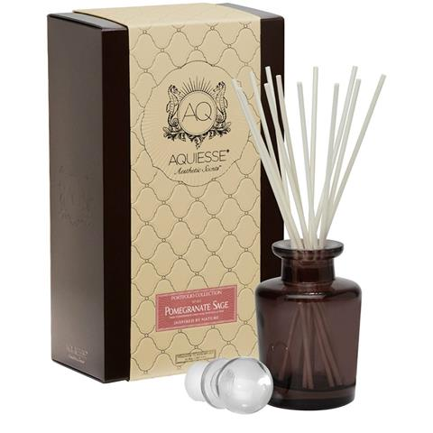 Aquiesse Portfolio Collection Pomegranate Sage Fragrance Oil Reed Diffuser 9.5oz