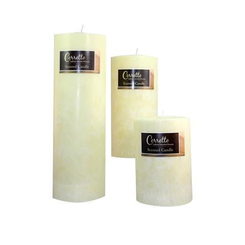 Baronessa Cali Corretto Caffeine & Italian Olive Oil Enriched Pillar Candles Small 3x4