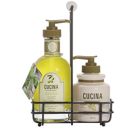 Cucina Coriander & Olive Tree DUO Liquid Hand Soap 6.7oz & Hand Cream 5oz