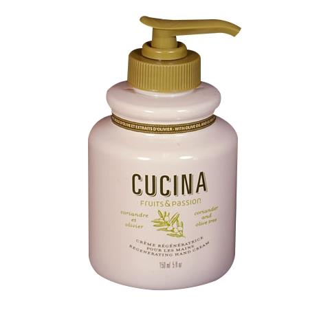 Cucina Coriander & Olive Tree Regenerating Hand Cream Pump 5oz