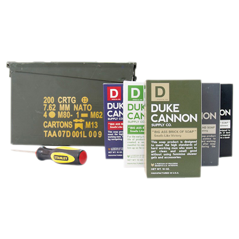 Duke Cannon Military Ammo Case Gift Set