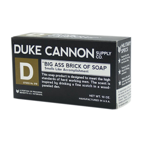Duke Cannon Big Ass Brick of Soap Black Bar 10oz