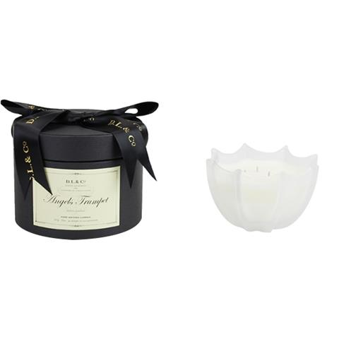 D.L. & Co. Angels Trumpet Scalloped Candle 10oz