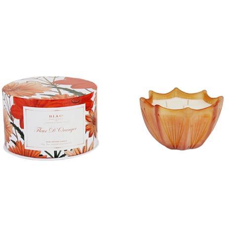 D.L. & Co. Fleur D'Oranger Etched Scalloped Candle 10oz
