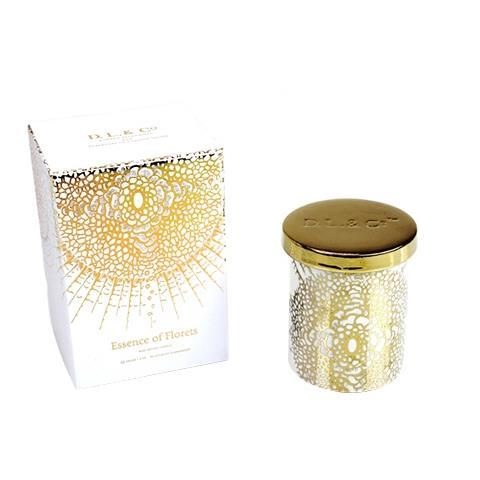 D.L. & Co. White Soleil Candle Essence of Florets 9oz