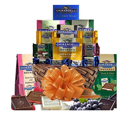 Ghirardelli Chocolate Gift Basket