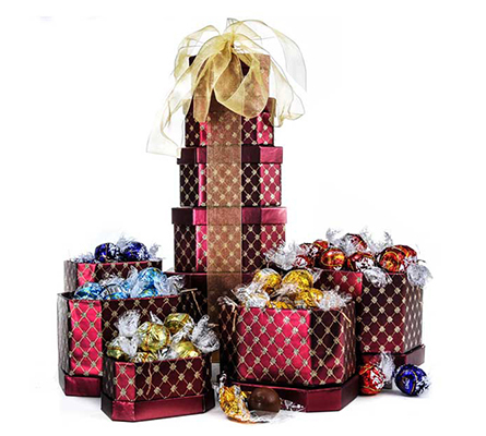 Holiday Truffle Gift Tower