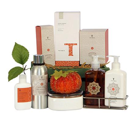 Thymes Lotus Santal Gift Basket