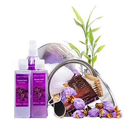 Purple Spa Treat Gift Basket