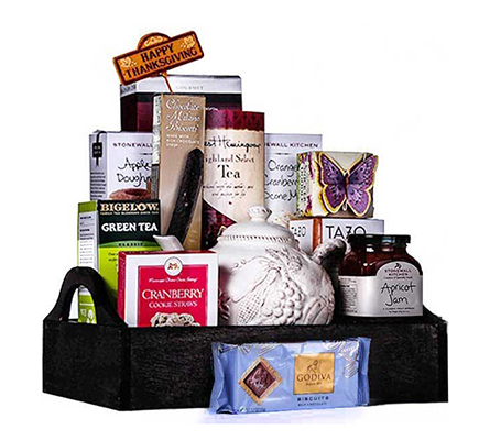 A Tray full of Thanks Gift Basket