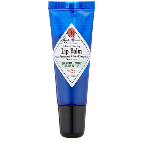 Jack Black Intense Therapy Lip Balm with Natural Mint & Shea Butter SPF 25, 0.25oz