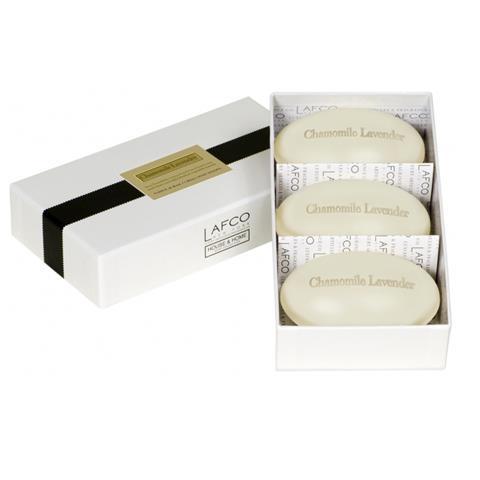 Lafco House & Home Gift Box Hand Soaps Chamomile Lavender 3 x 4.5oz
