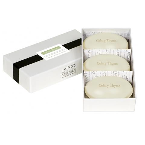 Lafco House & Home Gift Box Hand Soaps Celery Thyme 3 x 4.5oz
