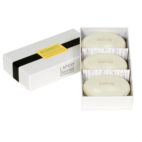 Lafco House & Home Gift Box Hand Soaps Daffodil 3 x 4.5oz