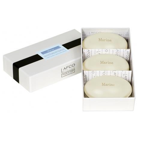 Lafco House & Home Gift Box Hand Soaps Marine 3 x 4.5oz