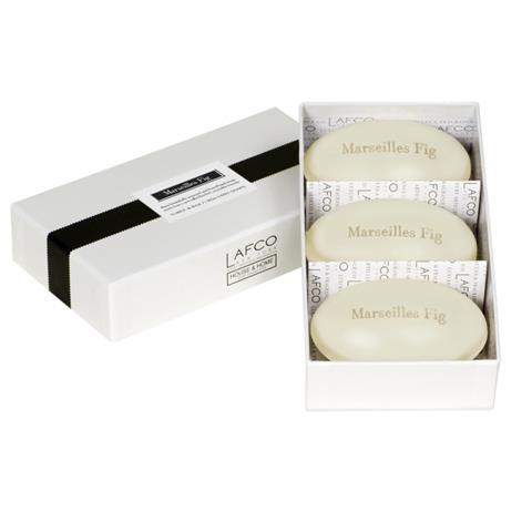 Lafco House & Home Gift Box Hand Soaps Marseilles Fig 3 x 4.5oz