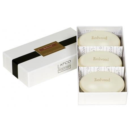 Lafco House & Home Gift Box Hand Soaps Redwood 3 x 4.5oz