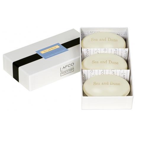 Lafco House & Home Gift Box Hand Soaps Sea & Dune 3 x 4.5oz