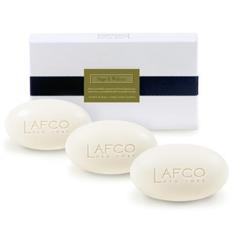 Lafco House & Home Gift Box Hand Soaps Sage & Walnut 3 x 4.5oz
