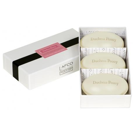 Lafco House & Home Soap Set Duchess Peony 3 x 4.5oz