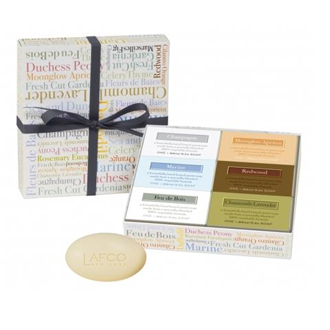 Lafco Set Of 6 Guest Assorted Soaps Gift Box Each Soap 1.86oz
