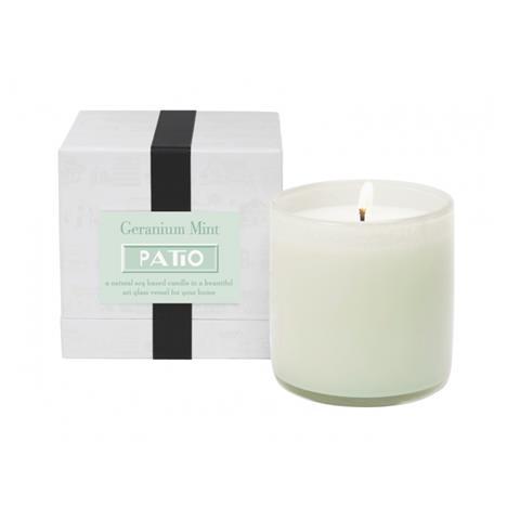 Lafco Patio Candle Geranium Mint 16oz