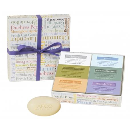 Lafco House & Home Set Of Guest Soaps Marine 6 x 1.86oz